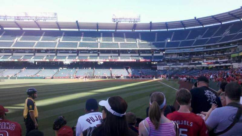 Seating view for Angel Stadium Section 101