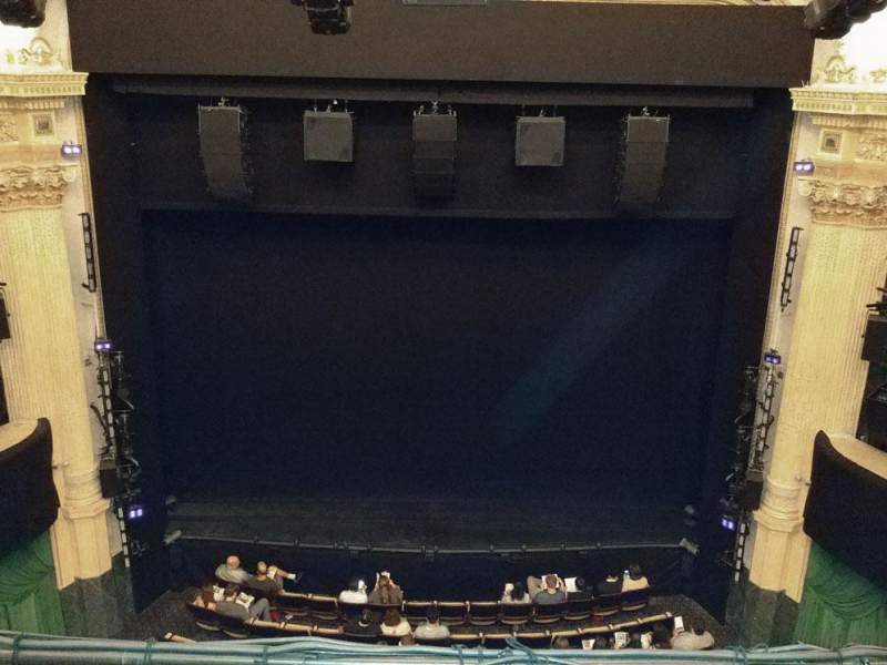 Seating view for Hudson Theatre Section Balcony C Row B Seat 108