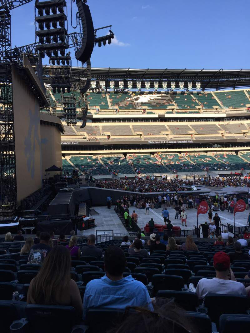 Lincoln Financial Field, section: 136, row: 21, seat: 16
