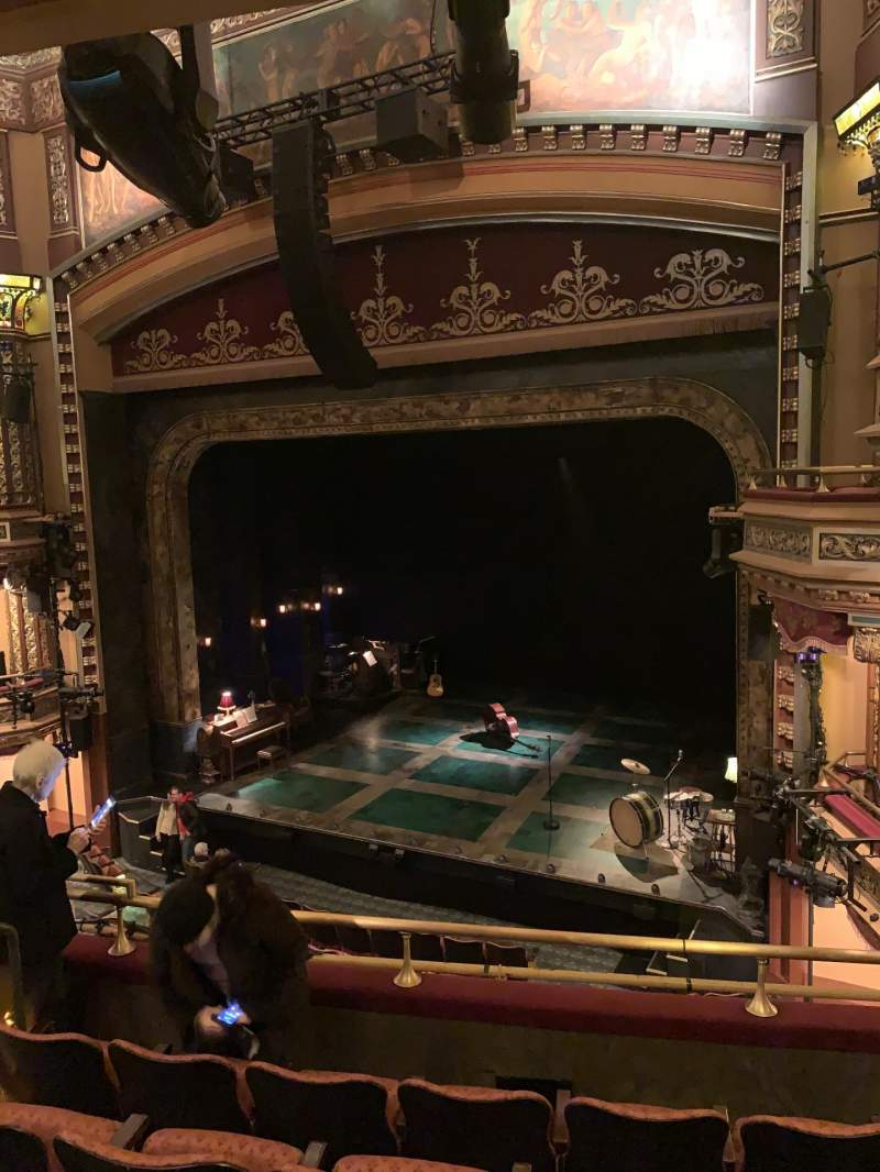 Seating view for Belasco Theatre Section Mezzanine R Row E Seat 12