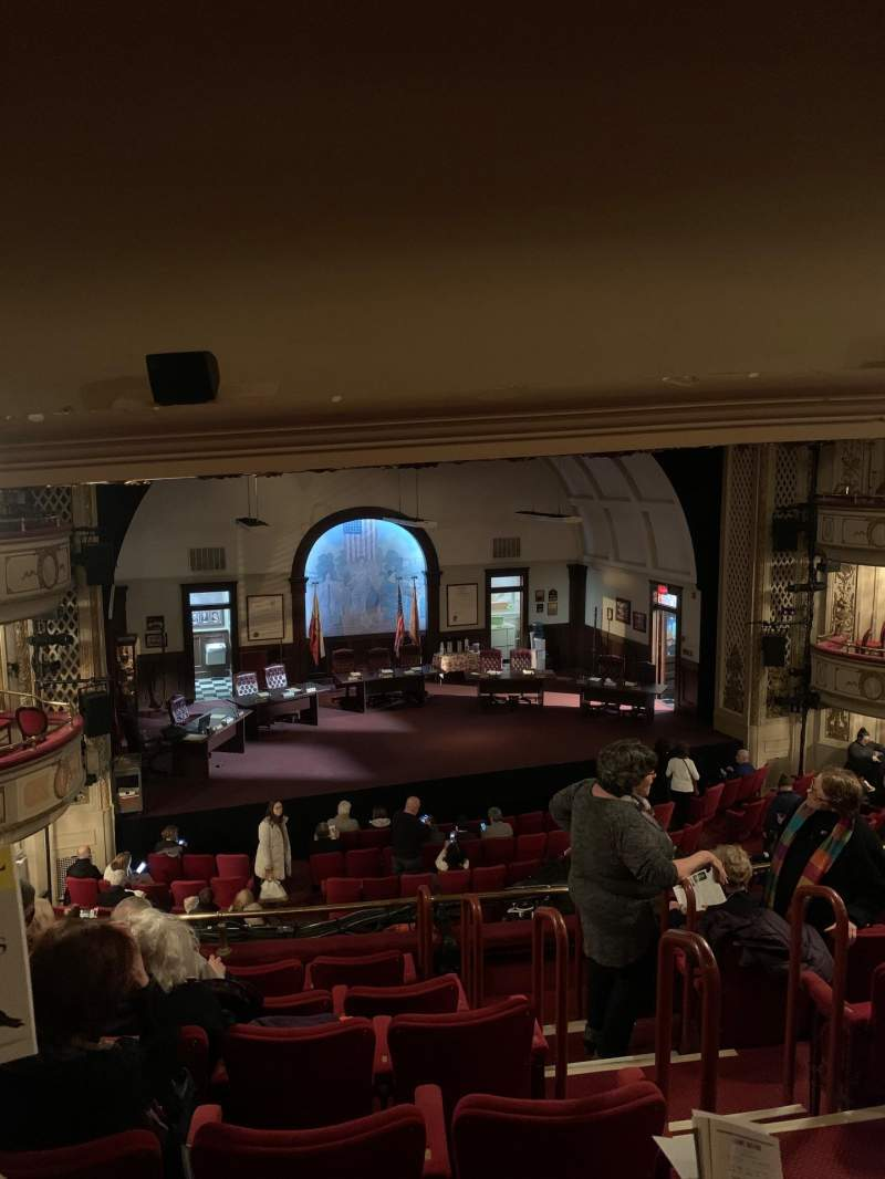 Seating view for Cort Theatre Section Mezzanine L Row G Seat 5