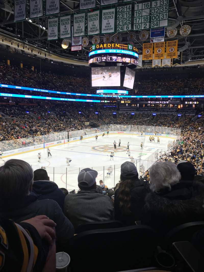 Seating view for TD Garden Section Loge 5 Row 26 Seat 17