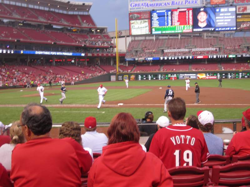 Seating view for Great American Ball Park Section 131 Row L Seat 9
