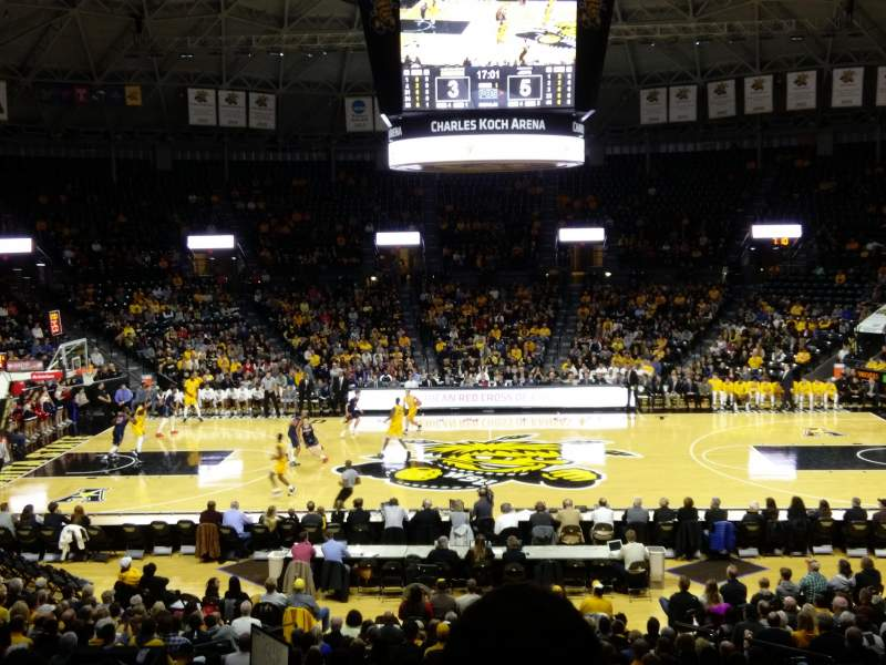 Seating view for Charles Koch Arena Section 108 Row 22