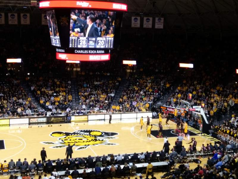 Charles Koch Arena, section: 122, row: 34