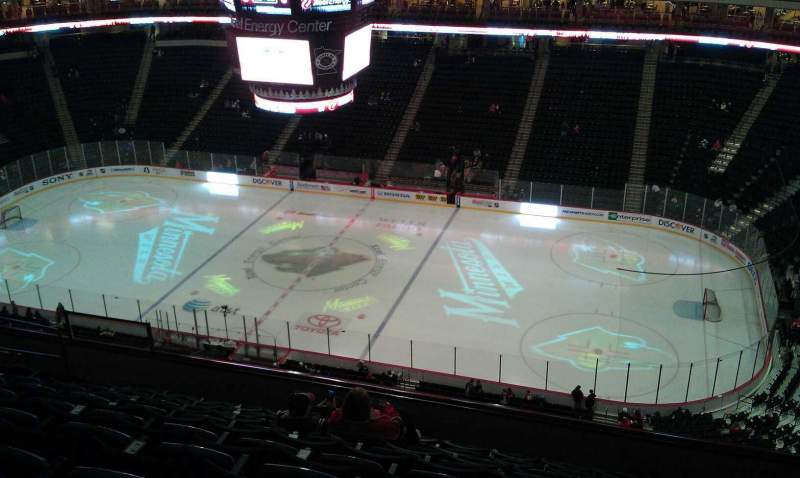 Seating view for Xcel Energy center Section 202 Row 9 Seat 10