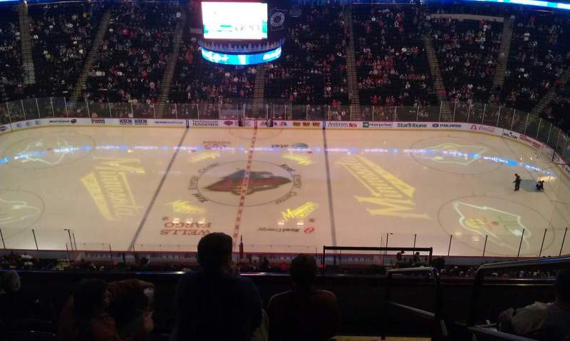 Seating view for Xcel Energy Center Section 219 Row 7 Seat 1