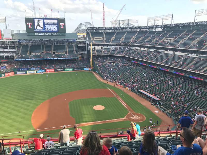 Seating view for Globe Life Park in Arlington Section 319 Row 16 Seat 7