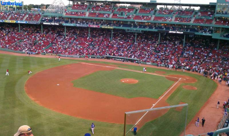 Seating view for Fenway Park Section Pavilion Box 18 Row 6 Seat 13