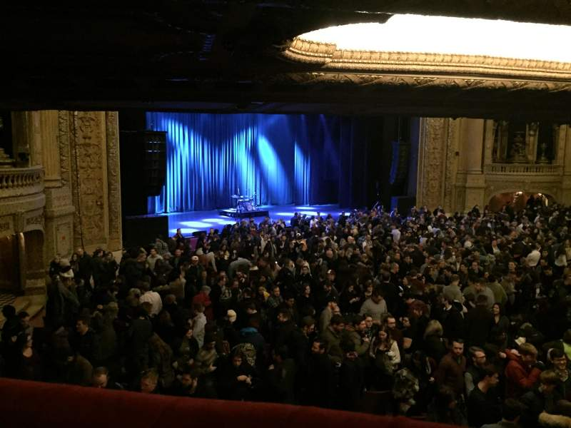 Seating view for Chicago Theatre Section Mezzanine Box U Row 1 Seat 1