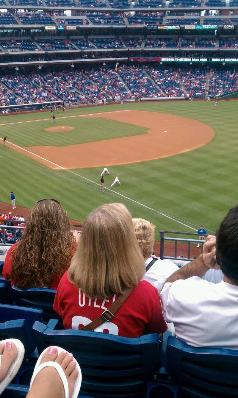 Seating view for Citizens Bank Park Section 208