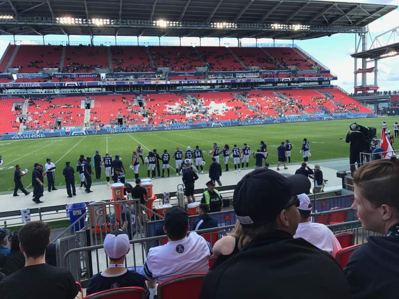 Seating view for BMO Field Section 125 Row 8 Seat 7