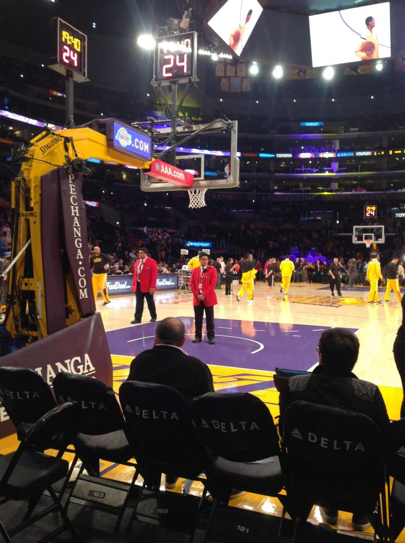 Seating view for Staples Center Section 115 Row B Seat 3