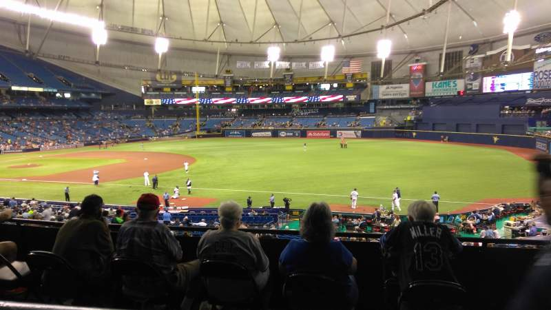 Seating view for Tropicana Field Section 130 Row PP Seat 15