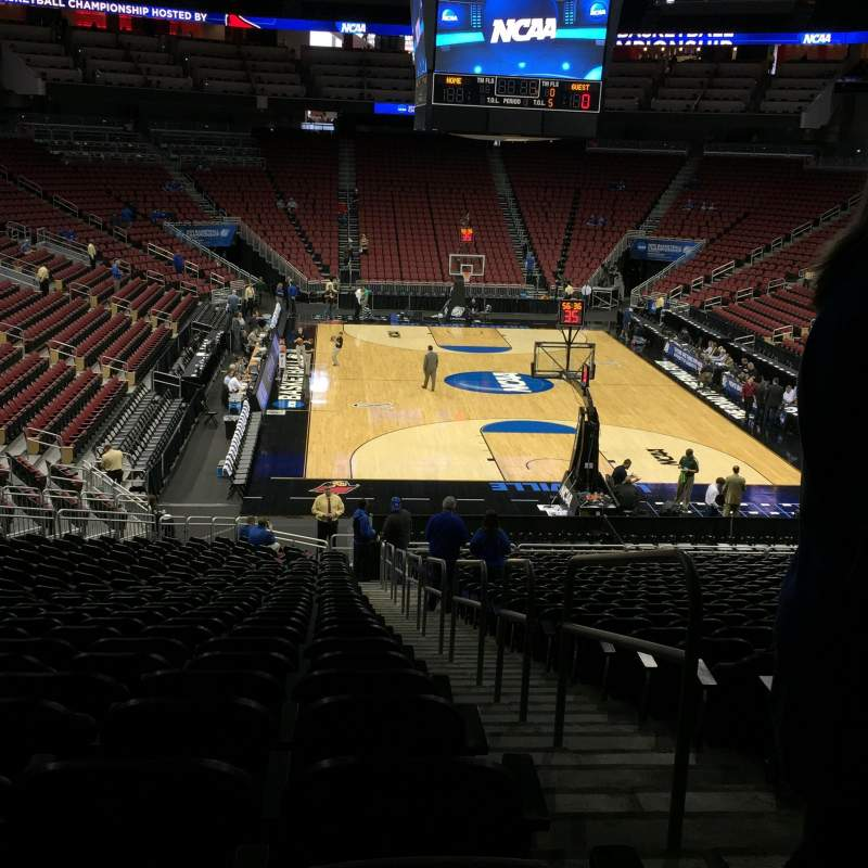 Seating view for KFC Yum! Center Section 112 Row GG Seat 1