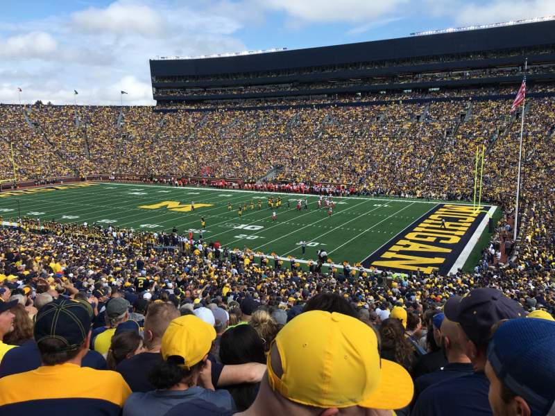 Seating view for Michigan Stadium Section 18 Row 62 Seat 7