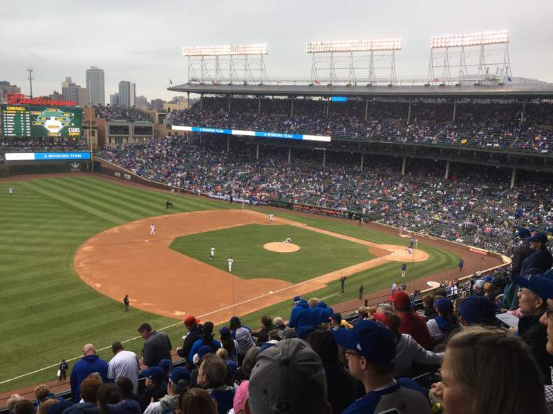 Seating view for Wrigley Field Section 307L Row 10 Seat 10