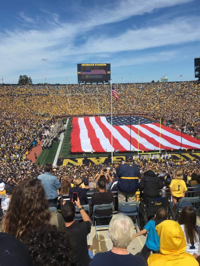 Seating view for Michigan Stadium Section 13 Row 79 Seat 3
