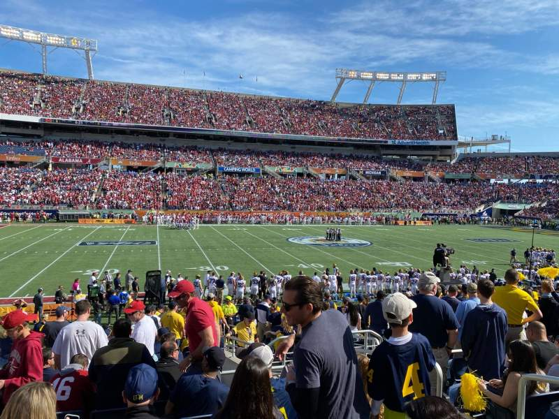 Seating view for Camping World Stadium Section 136 Row V Seat 4