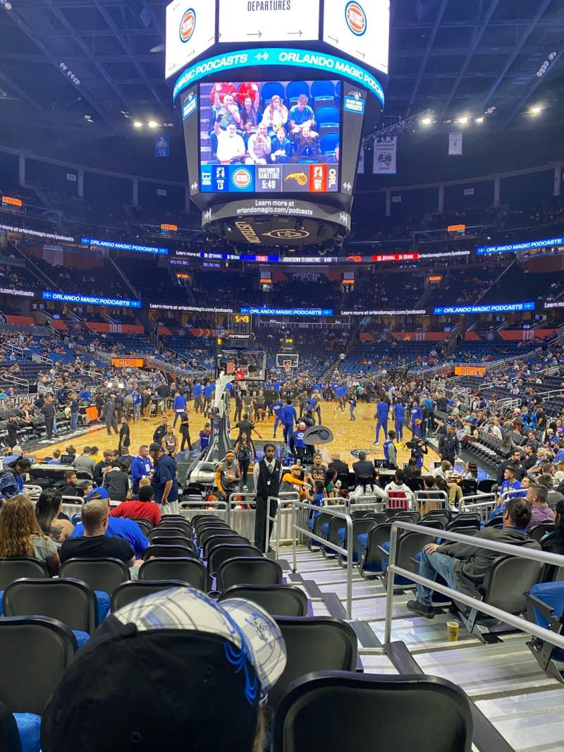 Seating view for Amway Center Section 101 Row 8 Seat 2