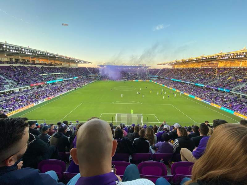 Seating view for Exploria Stadium Section 104 Row R Seat 19