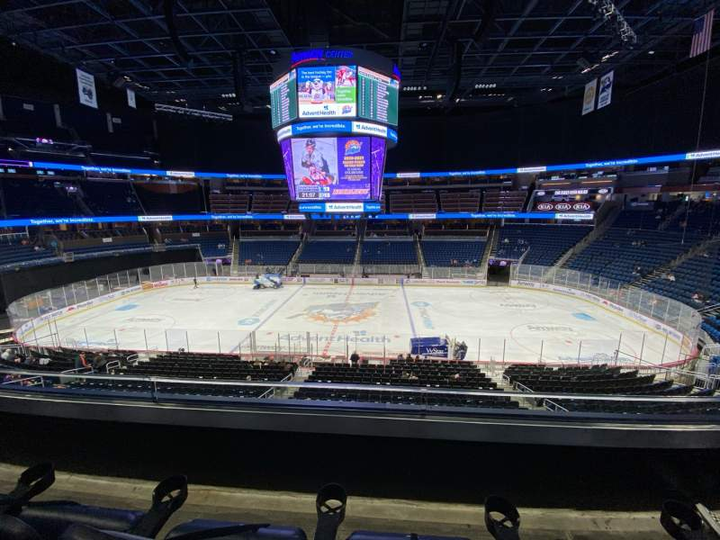 Seating view for Amway Center Section Club C Row 2 Seat 11