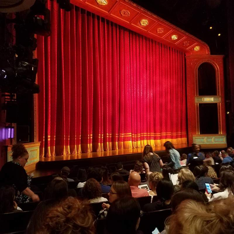 Seating view for Marquis Theatre Section Orchestra L Row J Seat 19