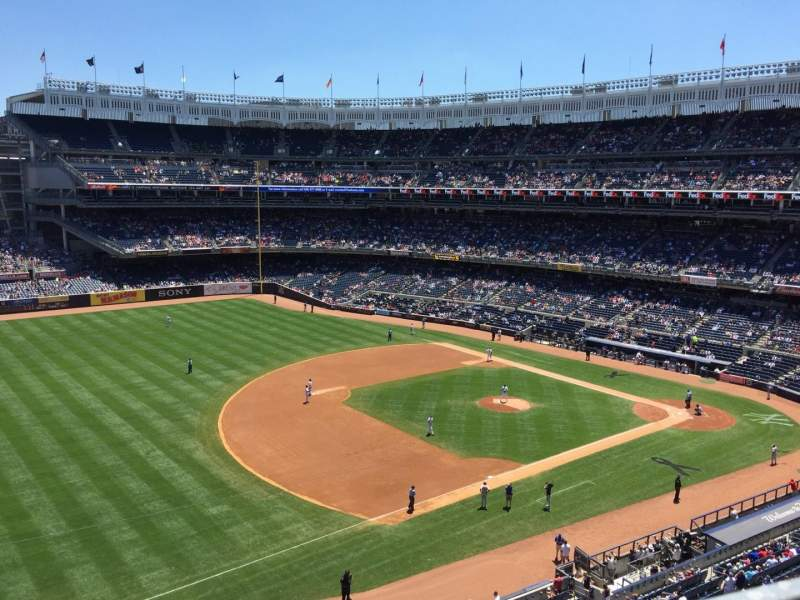 Seating view for Yankee Stadium Section 328 Row 1 Seat 7