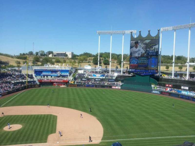 Seating view for Kauffman Stadium Section 429 Row J Seat 18