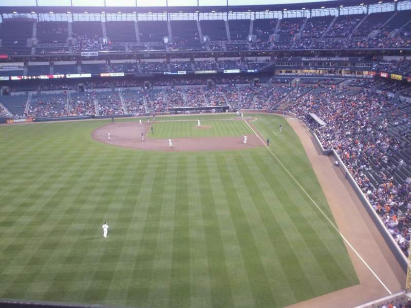 Seating view for Oriole Park at Camden Yards Section 382 Row 1 Seat 10
