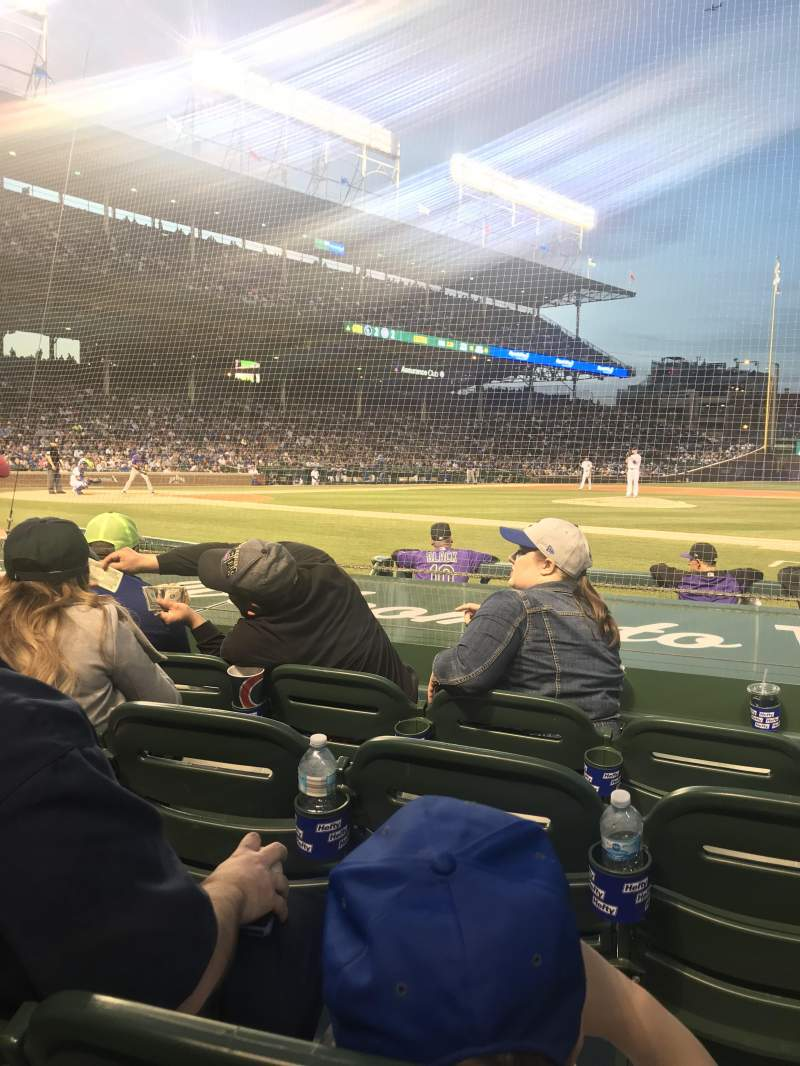 Wrigley Field Section 24 Row 8 Seat 6 Chicago Cubs Vs Colorado