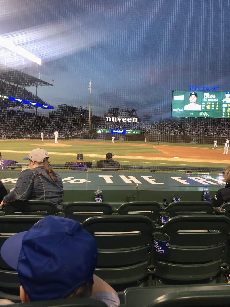 Seating view for Wrigley Field Section 24 Row 8 Seat 6