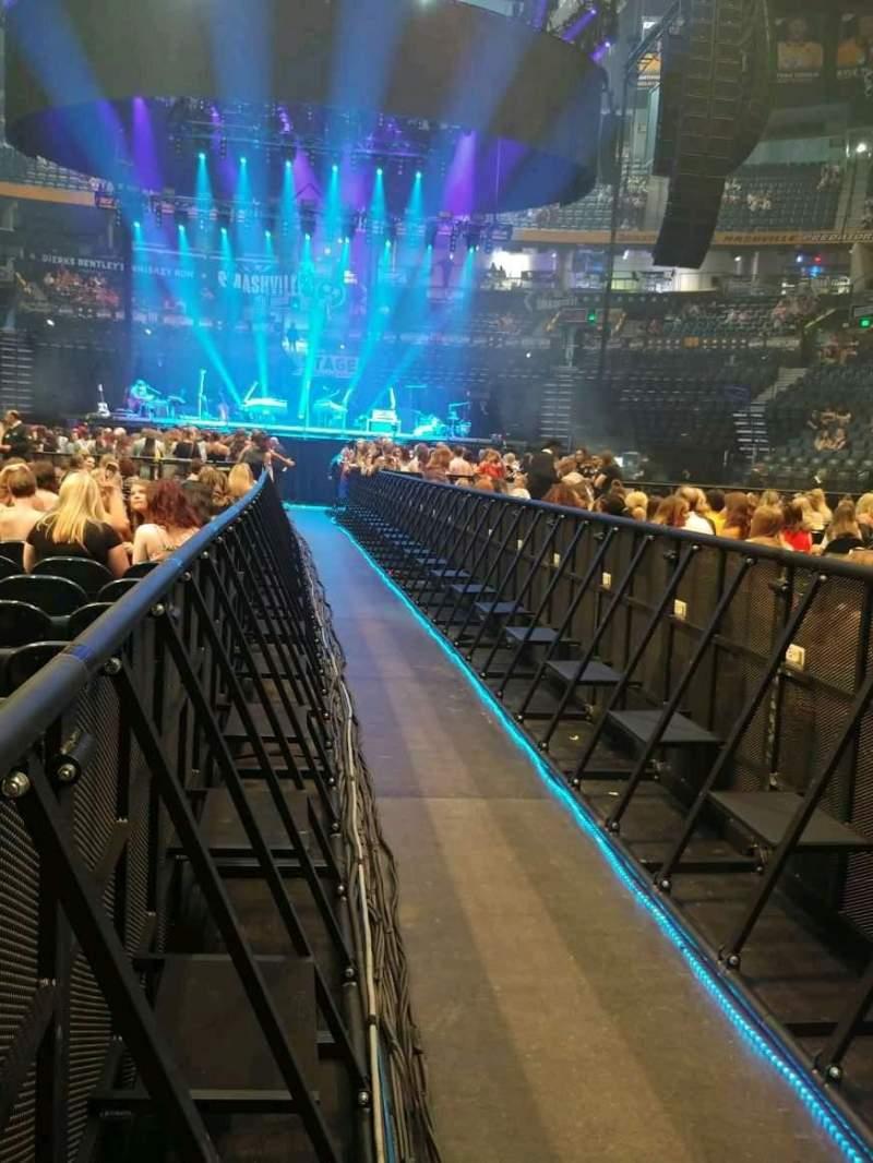 Seating view for Bridgestone Arena Section Floor 5 Row 23 Seat 1