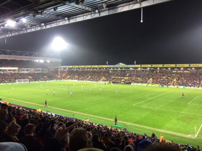 Seating view for Carrow Road Section F Row CC Seat 3