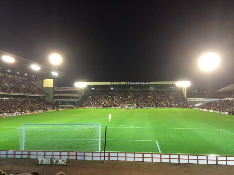 Seating view for Oakwell Stadium Section NS3 Row M Seat 61