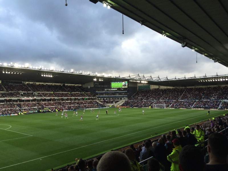 Seating view for Pride Park Section K Row C Seat 504