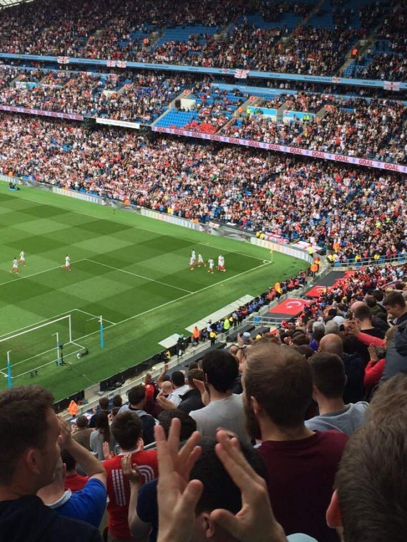 Seating view for Etihad Stadium (Manchester) Section 318 Row T Seat 486
