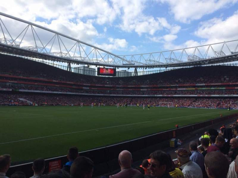 Seating view for Emirates Stadium Section 20 Row 6 Seat 628
