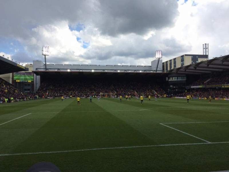 Seating view for Vicarage Road Section VR2 Row DD Seat 58