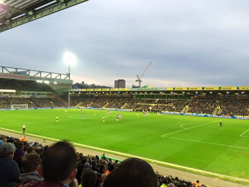 Seating view for Carrow Road Section F Row U Seat 7