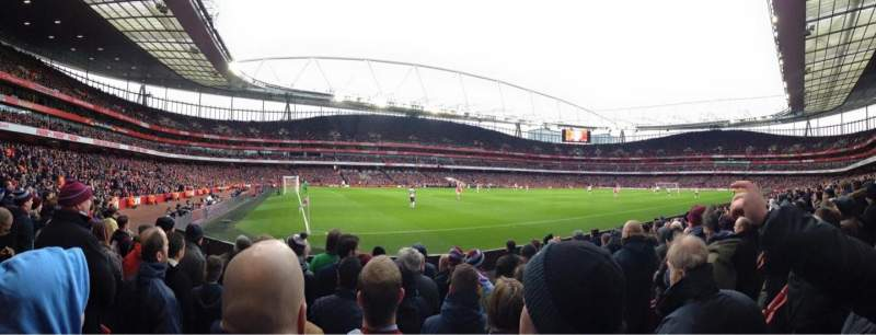 Seating view for Emirates Stadium Section 20 Row 8 Seat 622