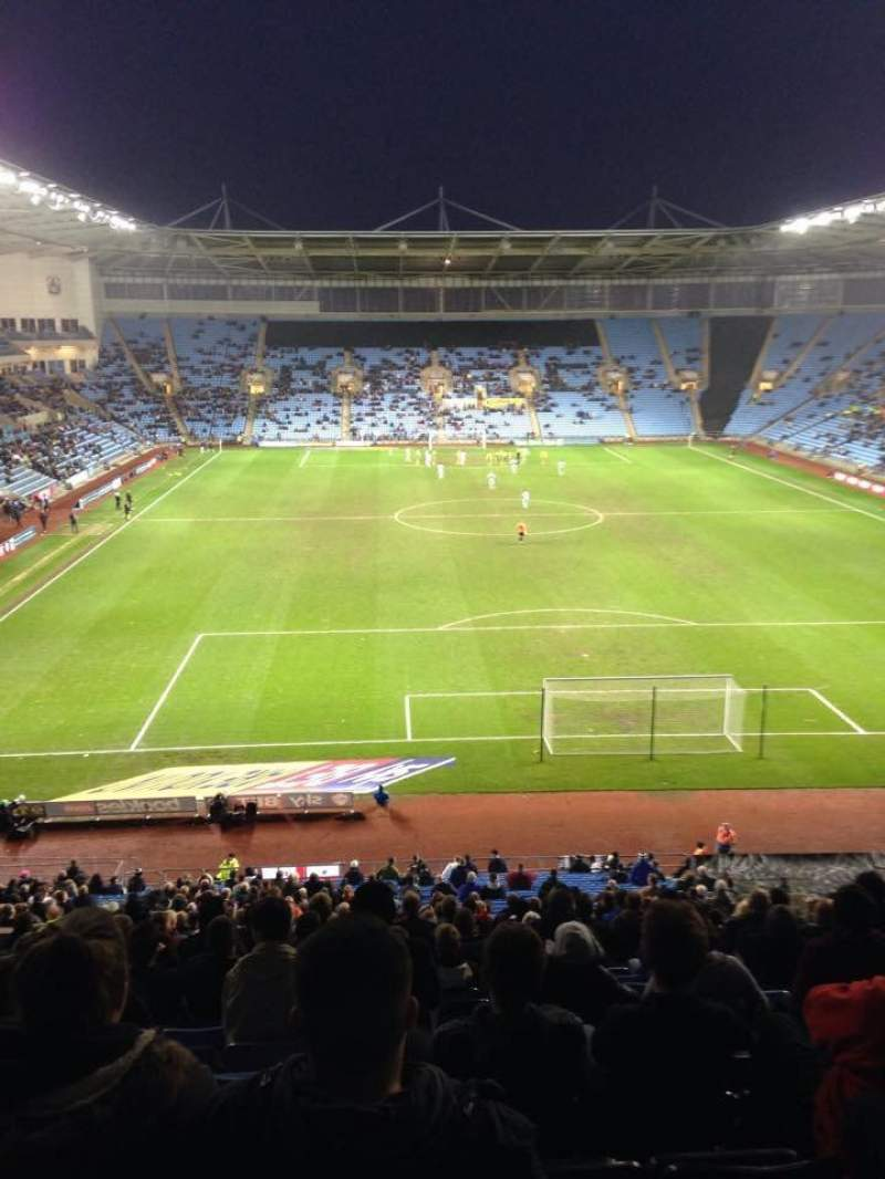 Seating view for Ricoh Arena Section 8 Row XX Seat 25