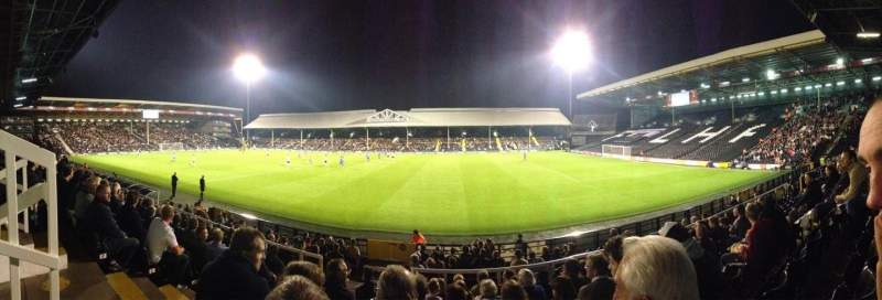 Seating view for Craven Cottage Section W Row H Seat 29