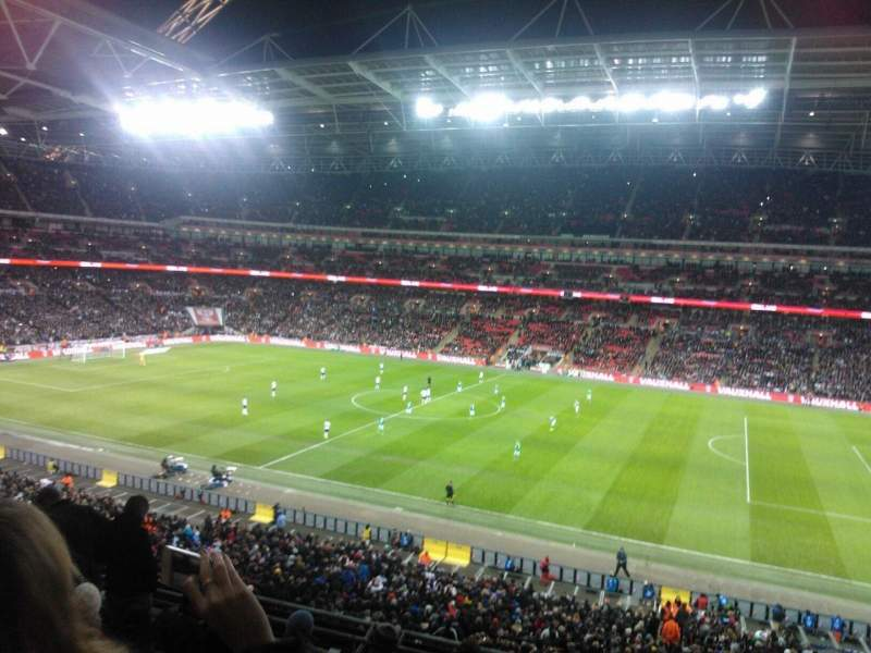 wembley stadium section 224 row 7 seat 242 england vs. Black Bedroom Furniture Sets. Home Design Ideas