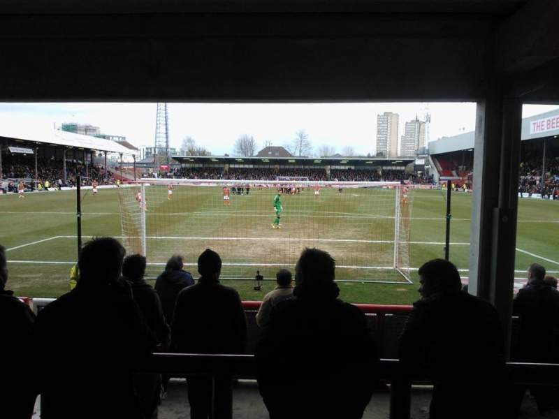 Seating view for Griffin Park Section Brook Road Terrace
