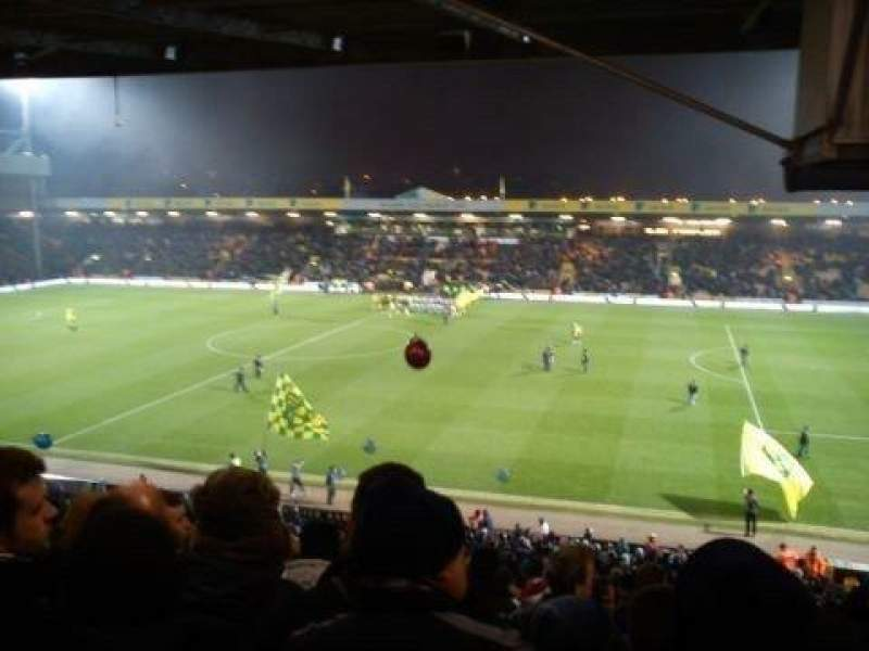 Seating view for Carrow Road Section H Row NN Seat 56