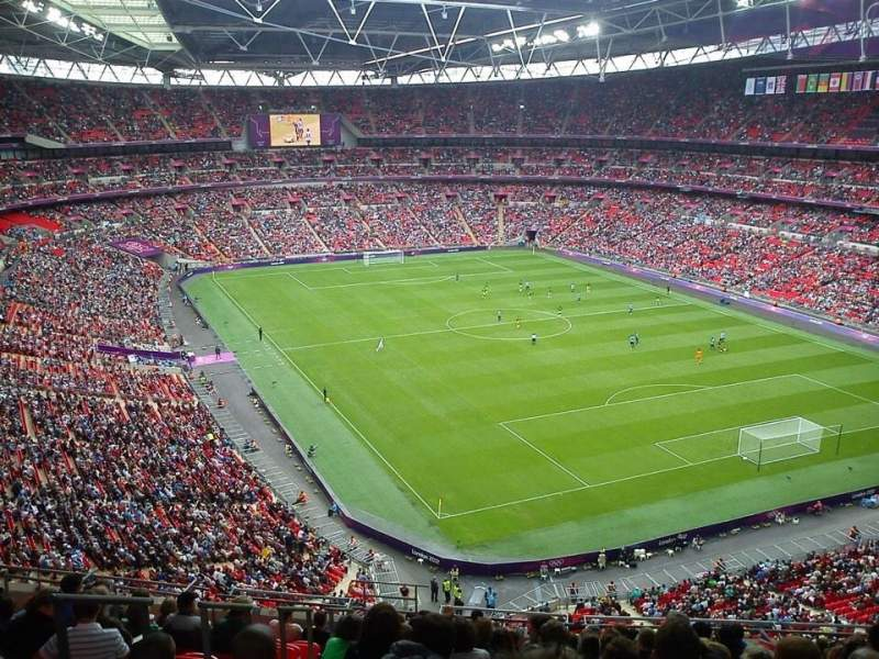 Seating view for Wembley Stadium Section 544 Row 15 Seat 124