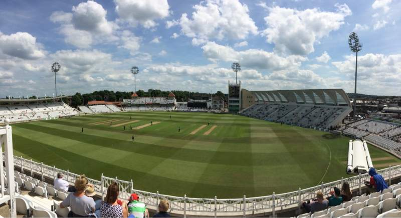 Seating view for Trent Bridge Section Main stand Row Middle Tier