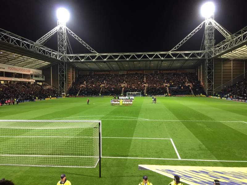 Seating view for Deepdale Section M Row 9 Seat 74
