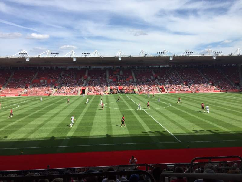 Seating view for St Mary's Stadium Section 32 Row W Seat 814